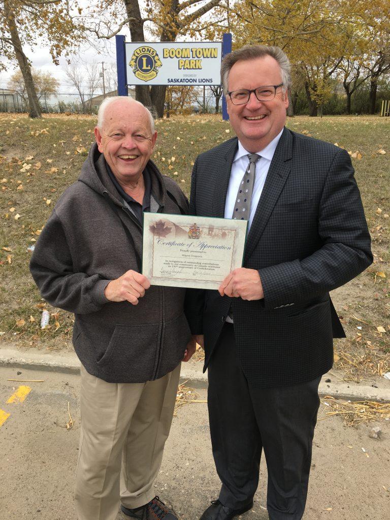 WAYNE CHOPONIS CANADA 150 AWARD