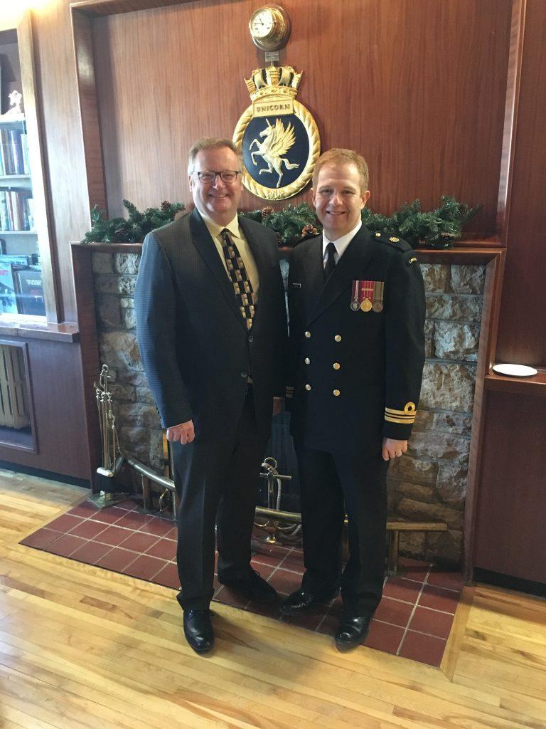 HMCS UNICORN NEW YEAR'S LEVEE-MATT DALZELL