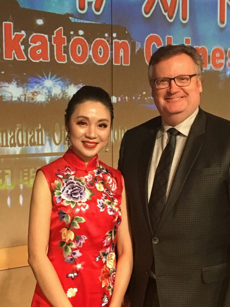 SHIRLEY ZHOU, PRESIDENT FEDERATION OF SASKATOON CHINESE CANADIAN ORGANIZATIONS