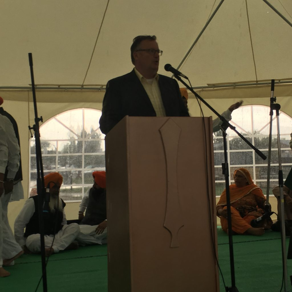 PLEASED TO BRING GREETINGS AT THE 2ND ANNUAL SIKH DAY PARADE