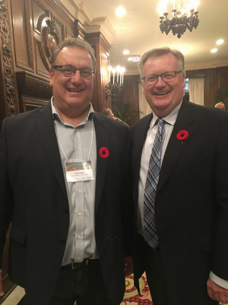 CANADIAN FEDERATION OF AGRICULTURE ANNUAL HARVEST RECEPTION-TODD LEWIS, PRESIDENT AGRICULTURE PRODUCERS OF SASKATCHEWAN