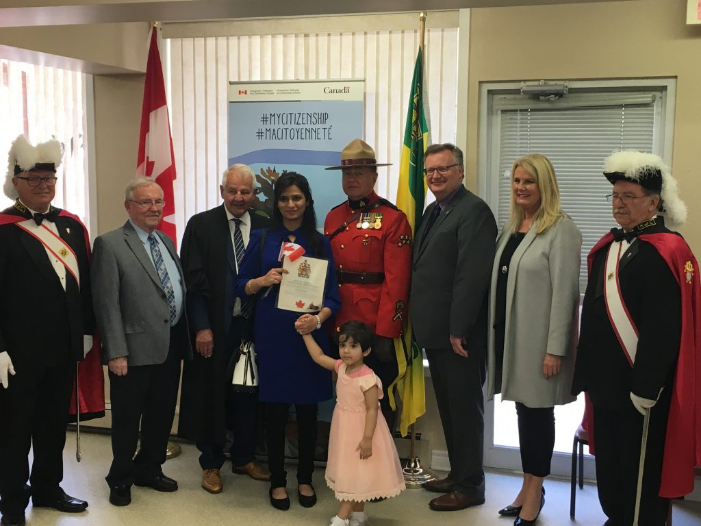 CANADIAN CITIZENSHIP CEREMONY COLUMBIAN MANOR