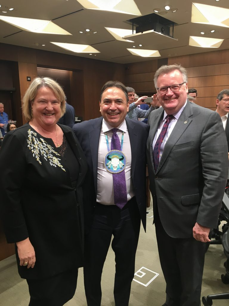 CATHY MCLEOD, MP KAMLOOPS THOMPSON-CARIBOO & CHIEF PERRY BELLGARDE
