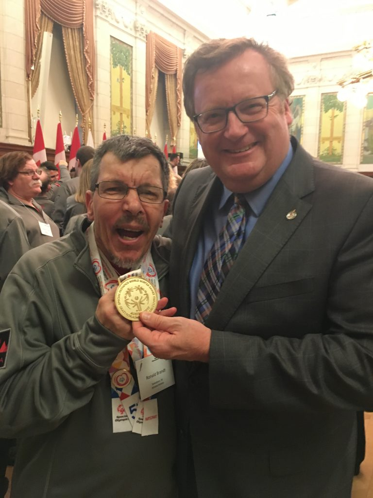 RON BRANDT, SPECIAL OLYMPIAN WORLD WINTER GAMES