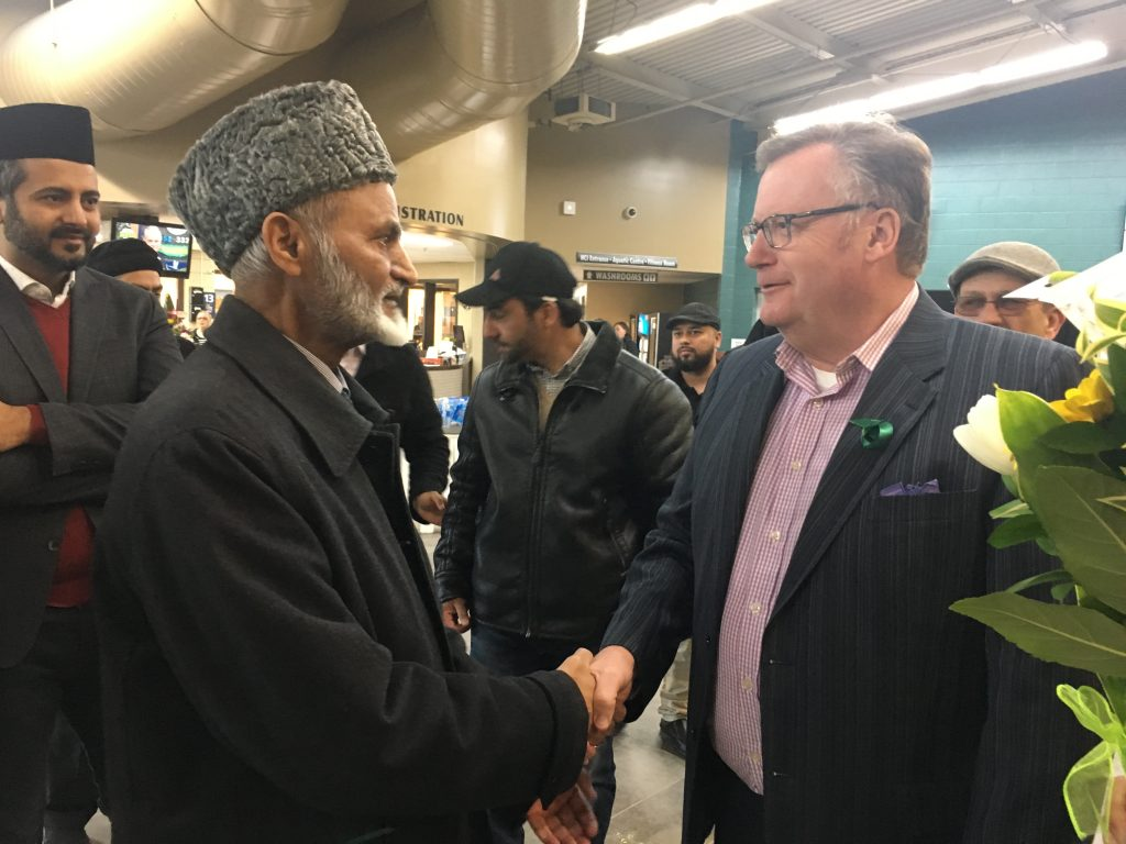 AHMADIYYA NATIONAL PRESIDENT LAL KHAN MALIK IN HUMBOLDT IN SUPPORT THE BRONCOS
