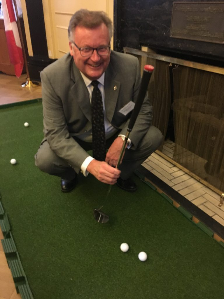 HAVING SOME FUN AT THE WE ARE GOLF RECEPTION IN OTTAWA