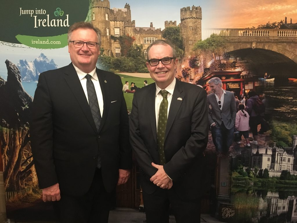 JIM KELLY-AMBASSADOR OF IRELAND TO CANADA