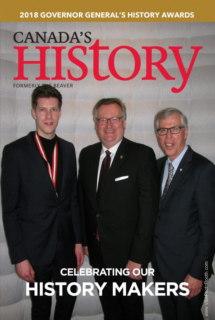 GOVERNOR GENERAL'S CANADIAN HISTORY AWARDS PRESENTED TO CONSTITUENTS JARED BOECHLER & BILL WAISER