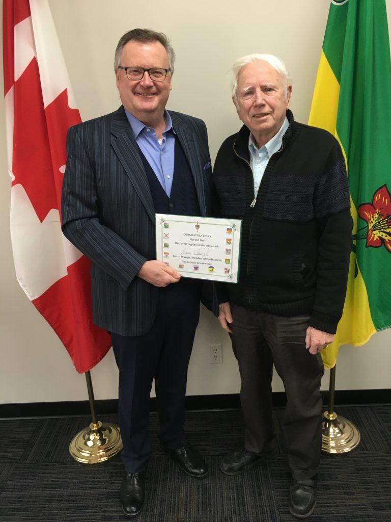 HAROLD ORR-ORDER OF CANADA